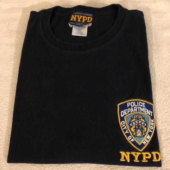 2e6096108 NYPD Shirts   Navy Police Department Tshirt Xl   Poshmark